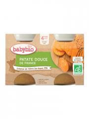 Babybio Patate Douce 4 Mois et + Bio 2 Pots de 130 g - Carton 2 pots de 130 g