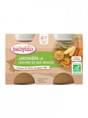 Babybio Jardinière de Légumes 4 Mois et + Bio 2 Pots de 130 g - Carton 2 pots de 130 g