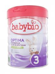 Babybio Optima Croissance 3 de 10 Mois à 3 Ans Bio 800 g - Boîte 800 g