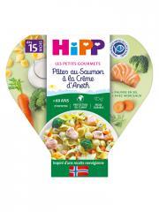 HiPP Les Petits Gourmets Pâtes au Saumon à la Crème d'Aneth dès 15 Mois 250 g - Plat 250 g