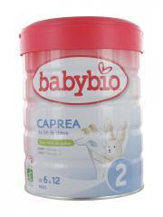 Babybio Caprea 2 au Lait de Chèvre de 6 à 12 Mois Bio 800 g - Boîte 800 g