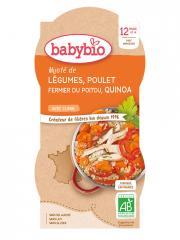 Babybio Mijoté de Légumes Poulet Quinoa 12 Mois et + Bio 2 Bols de 200 g - Carton 2 bols de 200 g