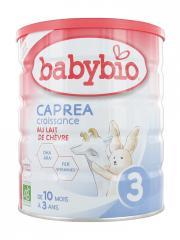 Babybio Caprea Croissance 3 au Lait de Chèvre de 10 Mois à 3 Ans Bio 800 g - Boîte 800 g