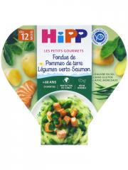 HiPP Les Petits Gourmets Fondue de Pommes de Terre Légumes Verts Saumon dès 12 Mois 230 g - Plat 230 g