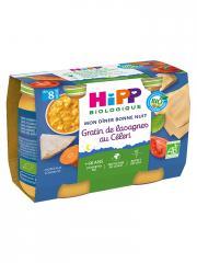 HiPP Mon Dîner Bonne Nuit Gratin de Lasagnes au Céleri dès 8 Mois Bio 2 Pots - Carton 2 pots de 190 g