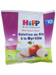 HiPP Mon Goûter Plaisir Galettes de Riz à la Myrtille dès 10 Mois Bio 30 g - Sachet 30 g