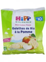 HiPP Mon Goûter Plaisir Galettes de Riz à la Pomme dès 10 Mois Bio 30 g - Sachet 30 g
