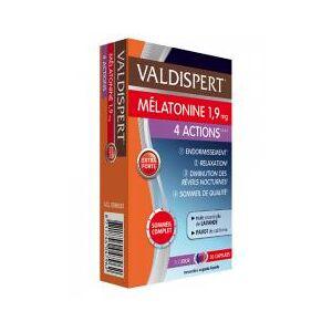 Valdispert Mélatonine 1,9 mg 4 Actions 30 Capsules - Boîte 30 Capsules - Publicité