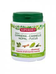 Super Diet Quatuor Gymnema Cannelle Nopal Fucus Bio 120 Gélules - Boîte 120 Gélules
