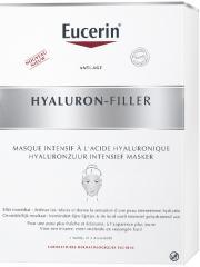 Eucerin Hyaluron-Filler Masque Intensif à l'Acide Hyaluronique 4 Masques - Boîte 4 masques