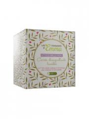Les Tendances d'Emma Collection Eco Belle Kit Bois Carrés Démaquillants Lavables Ecru - Boîte 15 carrés + 1 filet + 1 boîte