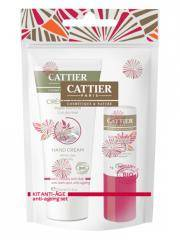 Cattier Kit Anti-Age Mains & Lèvres - Sachet 1 crème mains + 1 baume lèvres