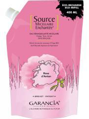Garancia Source Micellaire Enchantée Eau Démaquillante Micellaire Rose d'Antan Éco-Recharge 400 ml - Sachet 400 ml