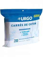 Urgo Carrés de Coton 200 Carrés 10 x 8 cm - Sachet 200 carrés
