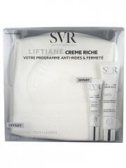 SVR Liftiane Crème Riche 40 ml + Liftiane Yeux + Lèvres 15 ml + Trousse Offerts - Trousse 2 produits