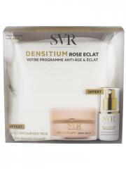 SVR Densitium Rose Eclat 50 ml + Densitium Contour des Yeux 15 ml et Trousse Beauté Offerts - Coffret 3 produits