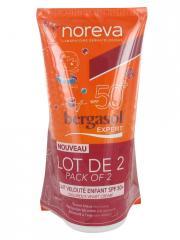 Noreva Bergasol Expert Lait Velouté Enfant SPF50+ Lot de 2 x 150 ml - Lot 2 tubes