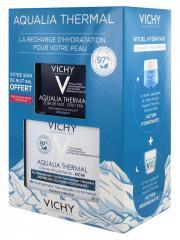 Vichy Aqualia Thermal Crème Réhydratante Riche 50 ml + Soin de Nuit Effet SPA 15 ml Offert - Coffret 2 produits