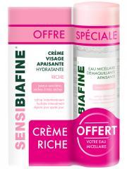 SensiBiafine Crème Visage Apaisante Hydratante Riche 50 ml + Eau Micellaire 125 ml Offerte - Lot 2 produits