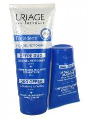 Uriage Bariéderm Cica-Gel Nettoyant 200 ml + Crème Mains Isolante Réparatrice 50 ml - Lot 2 produits