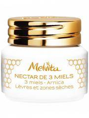 Melvita Nectar de 3 Miels Lèvres et Zones Sèches Bio 8 g - Pot 8 g