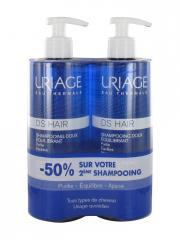 Uriage DS HAIR Shampoing Doux Équilibrant Lot de 2 x 500 ml - Lot 2 x 500 ml