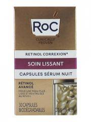 RoC Retinol Correxion Soin Lissant Capsules Sérum Nuit 30 Capsules Biodégradables - Flacon 30 capsules biodégradables