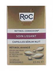 RoC Retinol Correxion Soin Lissant Capsules Sérum Nuit 10 Capsules Biodégradables - Boîte 10 capsules