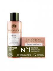 Sanoflore Baume Rosa Fresca Bio 50 ml + Aqua Rosa Bio 50 ml Offerte - Lot 2 produits