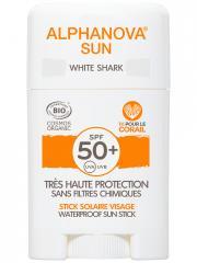 Alphanova Sun Stick Solaire White Shark Visage SPF50+ Bio 12 g - Stick 12 g
