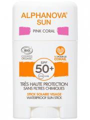 Alphanova Sun Stick Solaire Pink Coral Visage SPF50+ Bio 12 g - Stick 12 g