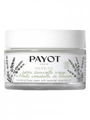 Payot Herbier Crème Universelle Visage à l'Huile Essentielle de Lavande Bio 50 ml - Pot 50 ml