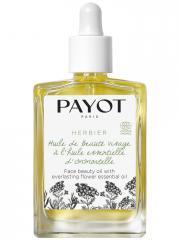 Payot Herbier Huile de Beauté Visage à l'Huile Essentielle d'Immortelle Bio 30 ml - Flacon compte goutte 30 ml