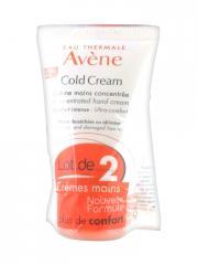 Avène Cold Cream Crème Mains Concentrée Lot de 2 x 50 ml - Lot 2 x 50 ml