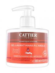 Cattier Gel Lavant Mains à l'Argile Parfum Mirabelle & Pêche Blanche 300 ml - Flacon-Pompe 300 ml