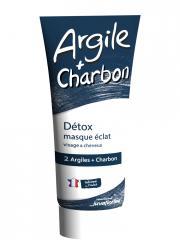 Juvaflorine Détox Masque Éclat Argile + Charbon 300 g - Tube 300 g
