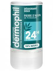 Dermophil Indien Déodorant Doux Pierre d'Alun 24H 115 g - Stick 115 g