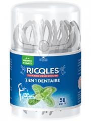 Ricqlès 2en1 Dentaire Fil & Cure-Dents 50 Unités - Boîte plastique 50 unités