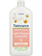 Natessance Crème de Douche Lait d'Ânesse Camomille 500 ml - Flacon 500 ml