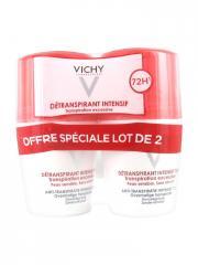 Vichy Détranspirant Intensif 72H Transpiration Excessive Lot de 2 x 50 ml - Lot 2 x 50 ml