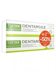 Cattier Dentargile Dentifrice Anti Plaque Dentaire Lot 2 x 75 ml - Lot 2 x 75 ml