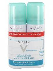 Vichy Déodorant Anti-Transpirant Efficacité 48H Spray Lot de 2 x 125 ml - Lot 2 x 125 ml
