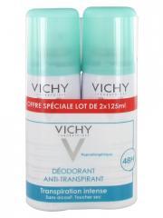 Vichy Déodorant Anti-Transpirant Efficacité 48H Spray Lot de 2 x 125 ml - Lot 2 x 125 ml