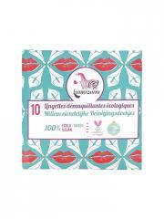 Lamazuna 10 Lingettes Démaquillantes Écologiques - Sachet 10 lingettes