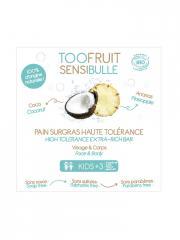 Toofruit Sensibulle Pain Dermatologique Surgras Haute Tolérance Ananas Coco 85 g - Boîte 1 pain de 85 g