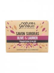 Nature & Senteurs Savon Surgras Olive et Laurier Tradition d'Alep 100 g - Blister 100 g