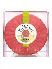 Roger & Gallet Savon Frais Boîte Cristal Fleur de Figuier 100 g - Boîte plastique 1 savon
