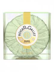 Roger & Gallet Savon Frais Boîte Cristal Thé Vert 100 g - Pain 100 g