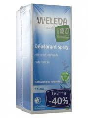 Weleda Déodorant à la Sauge Lot de 2 x 100 ml - Lot 2 déodorants de 100 ml