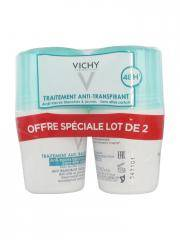Vichy Déodorant Anti-Transpirant Anti-Traces Roll-On 48H Lot de 2 x 50 ml - Lot 2 x 50 ml